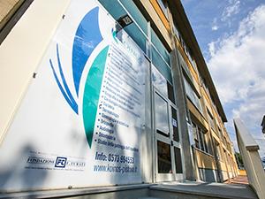 L'ingresso degli studi medici di Pistoia di Koinos, Centro Sanitario Pistoiese