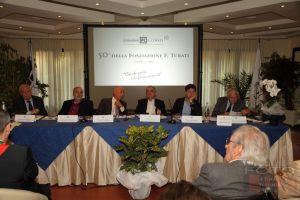 Nardella, Cariglia, Cioni, Ciuffoletti e Magni durante le celebrazioni per i 50 anni della Fondazione Turati