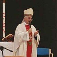 Monsignor Michele Castorio Arcivescovo di Vieste durante la messa presso la Fondazione Turati in occasione della Giornata Mondiale del Malato