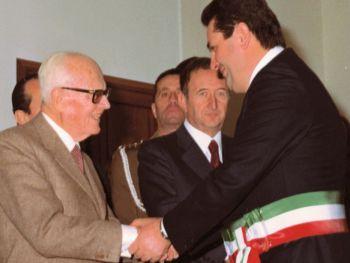 Renzo Bardelli e Sandro Pertini